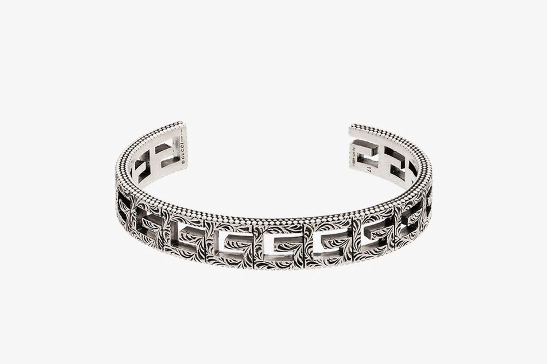 Silver Tone G Logo Bracelet