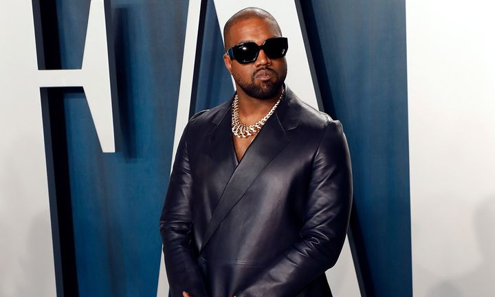 Kanye West leather suit sunglasses