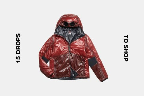 C.P. Company Red Toffee Wrapper Goggle Jacket
