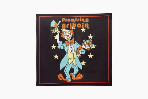 """Promising Britain"" Silk Scarf"