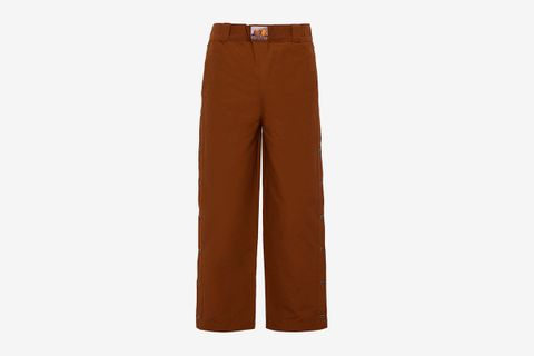 Western press-stud cotton-blend twill trousers