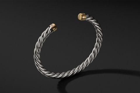 Cable Classic Cuff Bracelet w/ 18K Gold