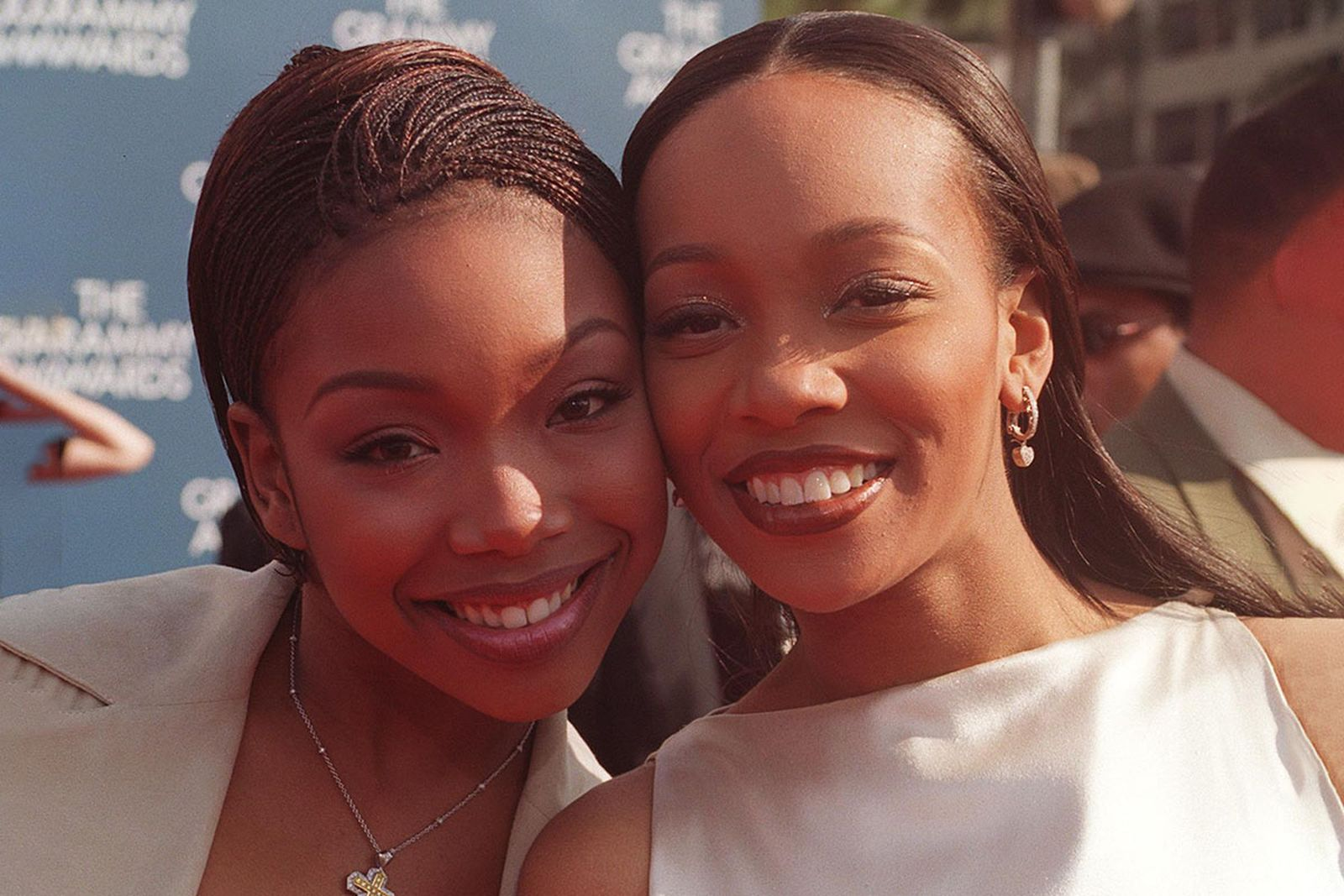 """Brandy and Monica arrive at the """"Grammy Awards"""""""