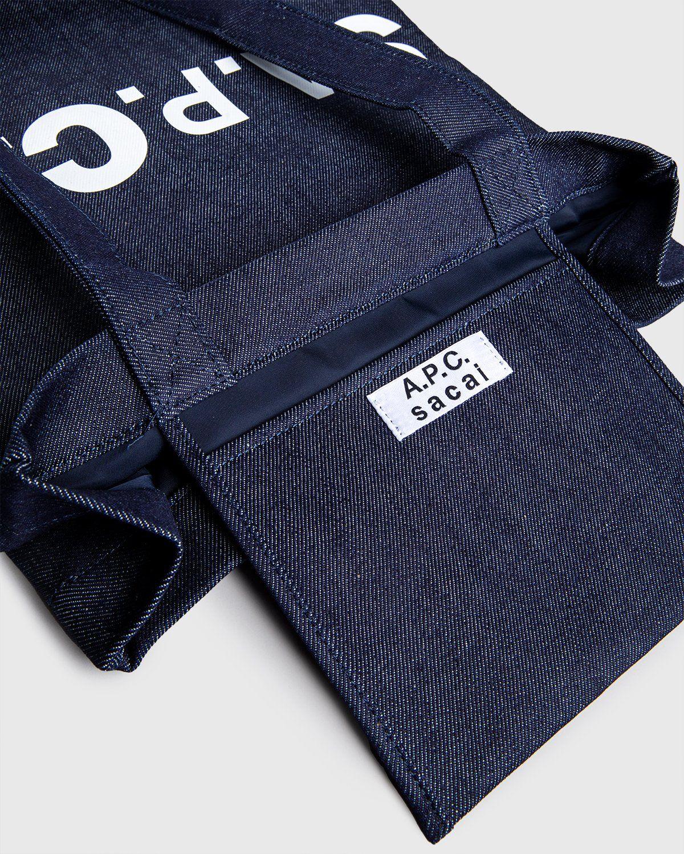 A.P.C. x Sacai — Tote Bag Holly Dark Navy - Image 5