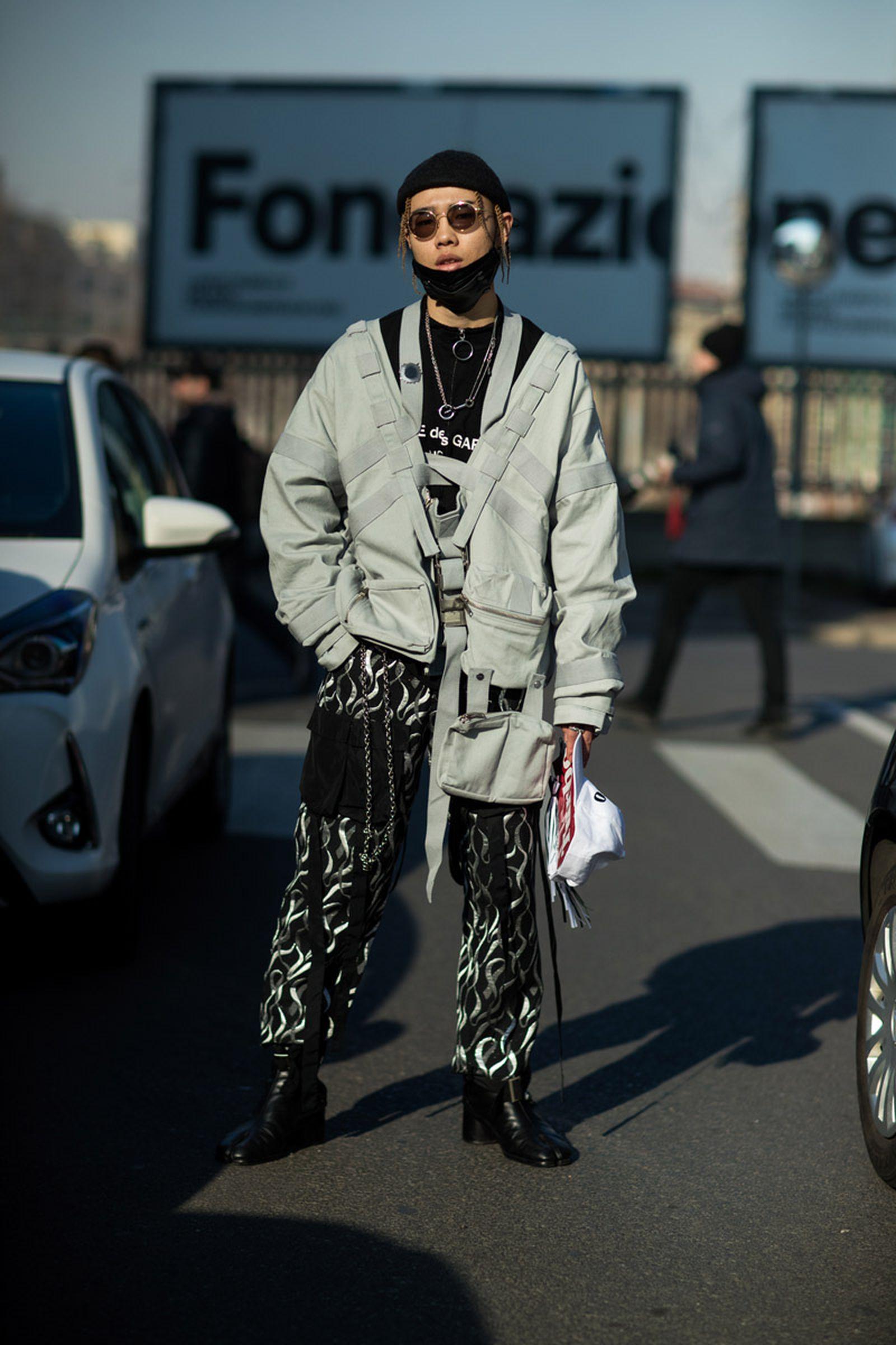 16milan fashion week street style 032c HBA x Colmar Supreme