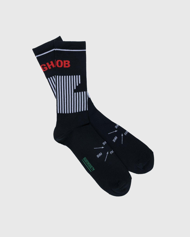 Highsnobiety – Performance Logo Socks Black - Image 1
