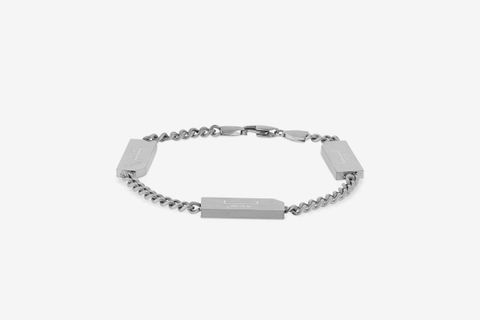 Chain Bracelet with Logo Bars
