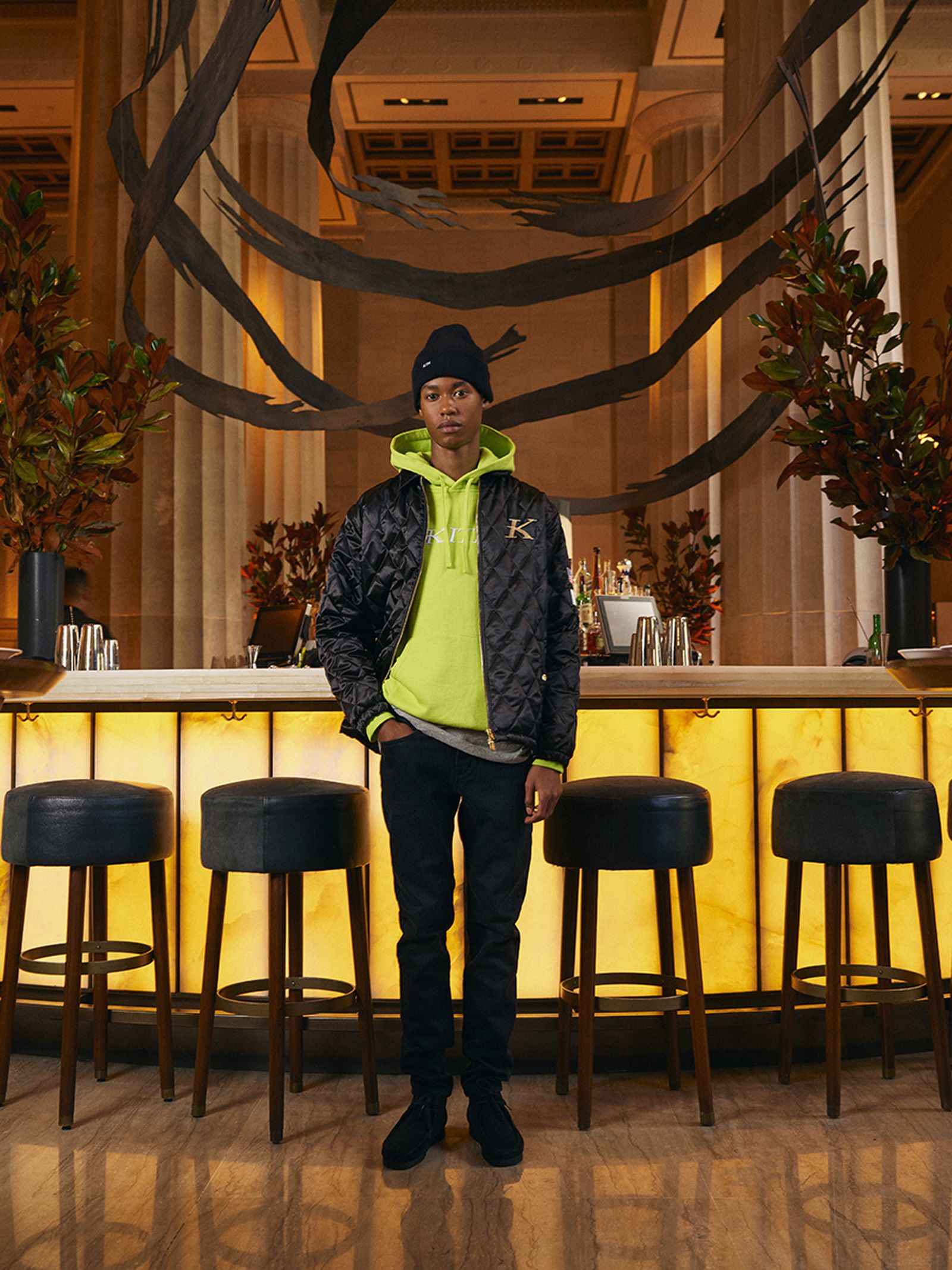 KITH Nobu hoodie jacket beanie