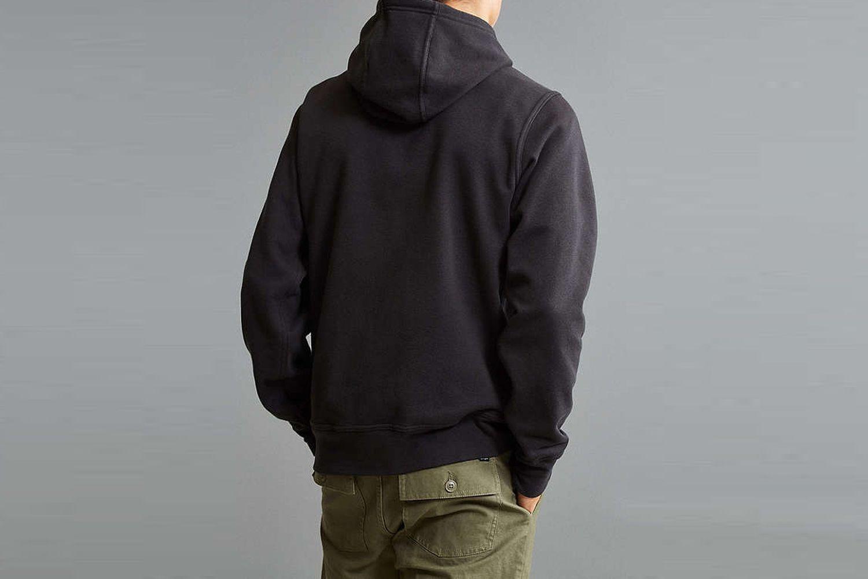 Embroidered Box Logo Hoodie Sweatshirt