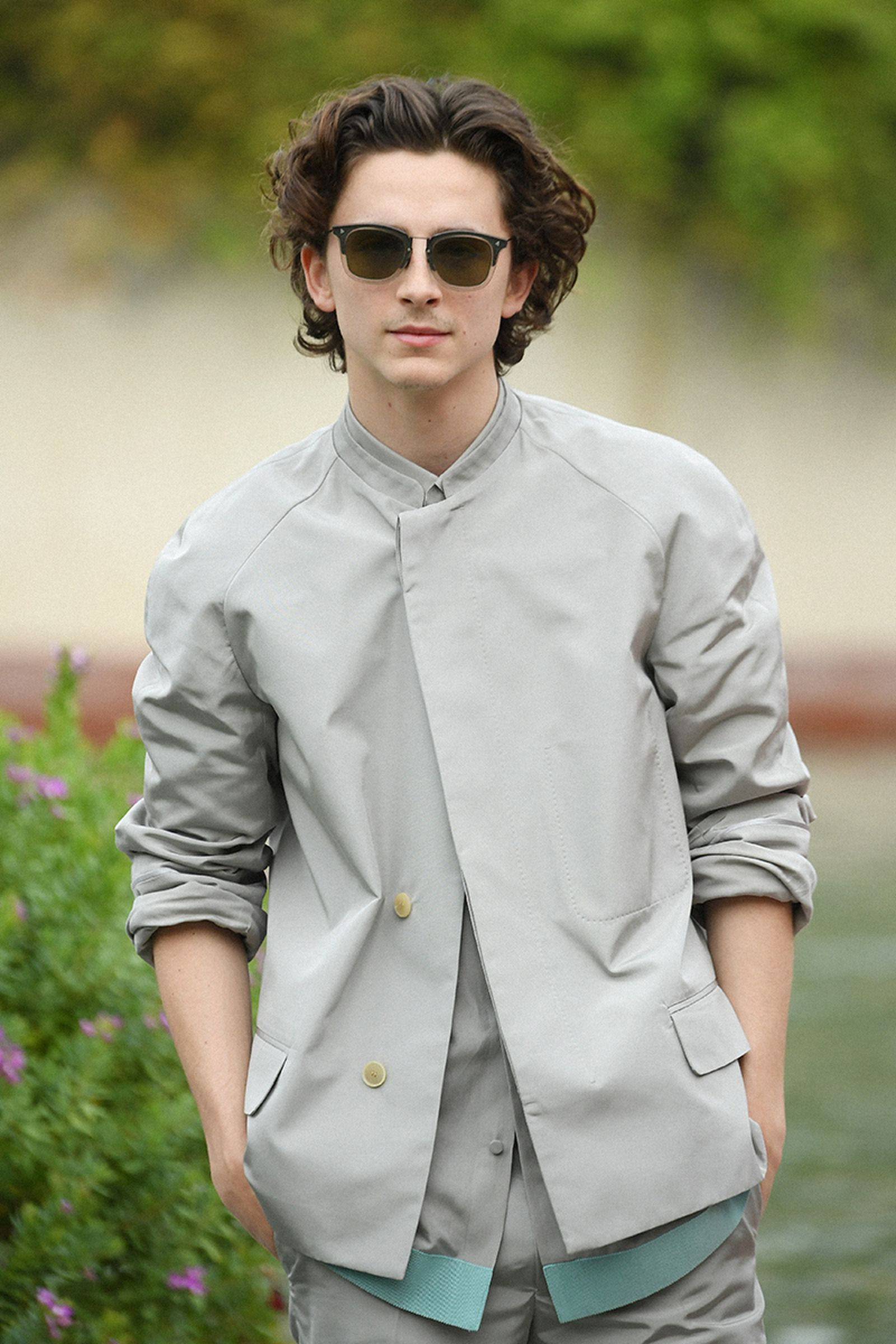 Timothee Chalamet is seen arriving at the 76th Venice Film Festival on September 02, 2019 in Venice, Italy.