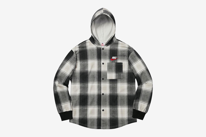 Plaid Hooded Sweatshirt
