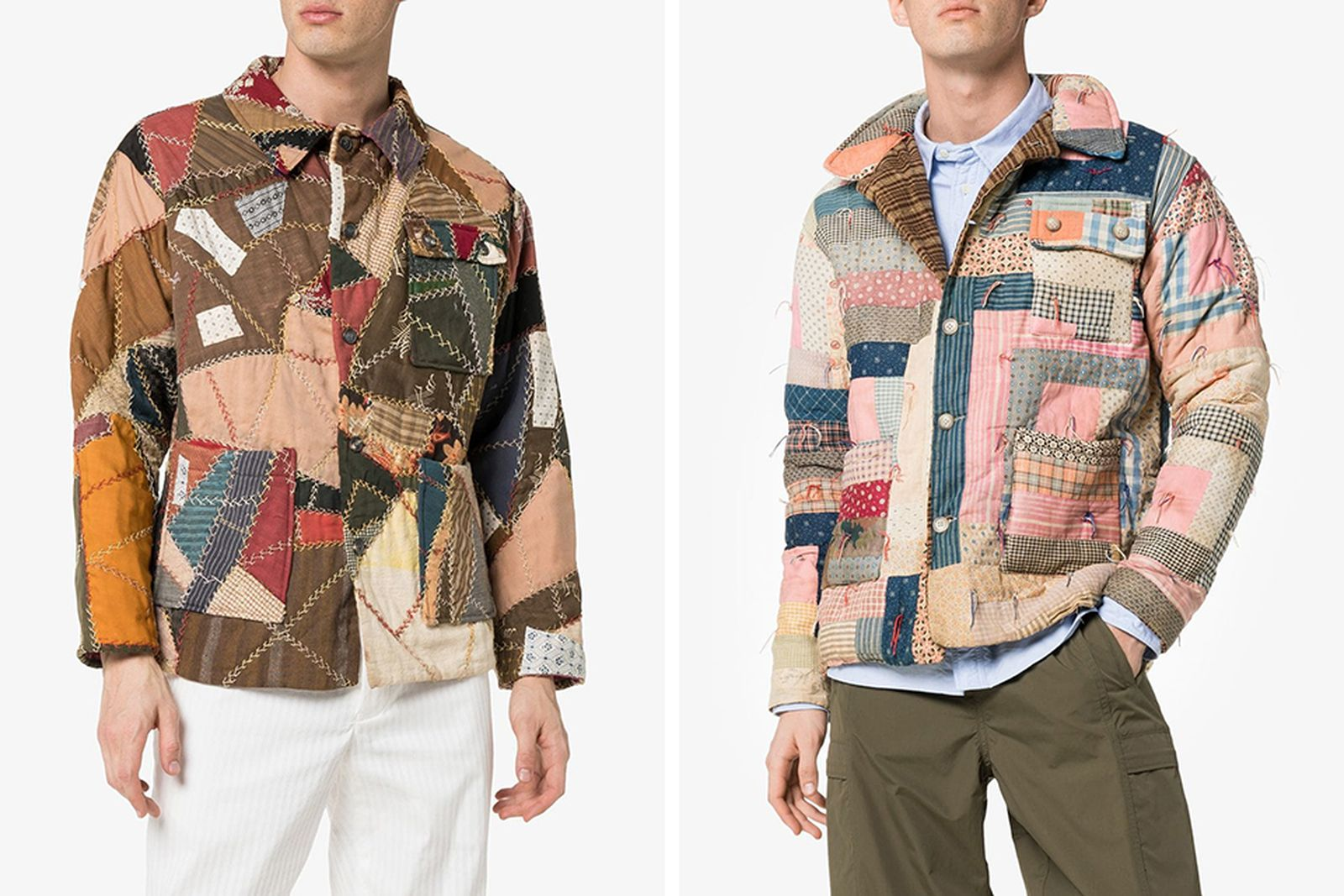bode patchwork jackets 000 browns
