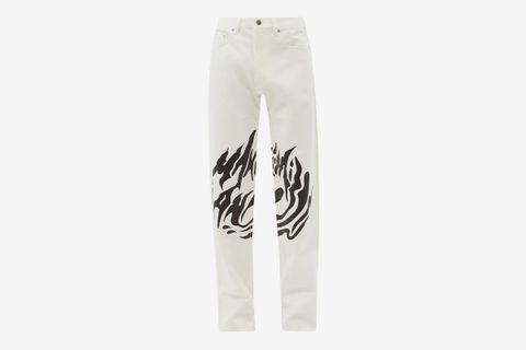 Logo-Print Jeans