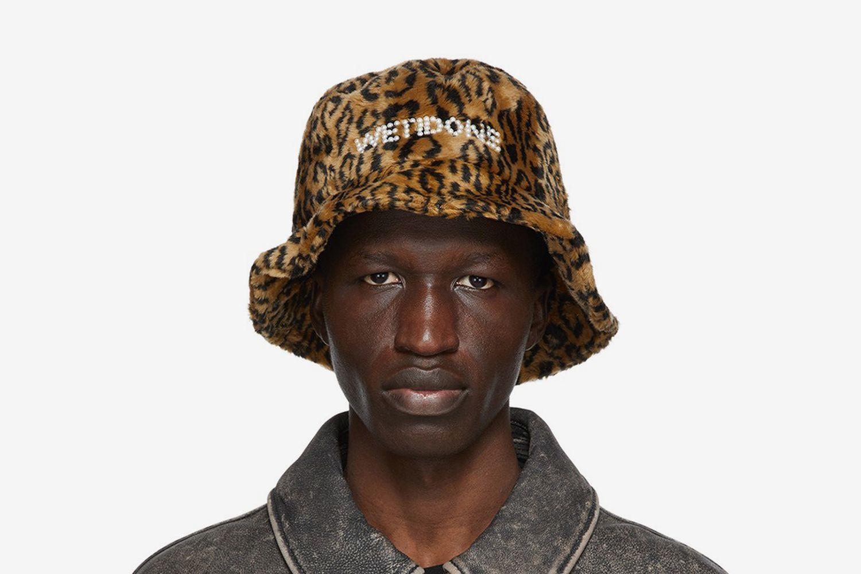 Leopard Pearl Logo Bucket Hat
