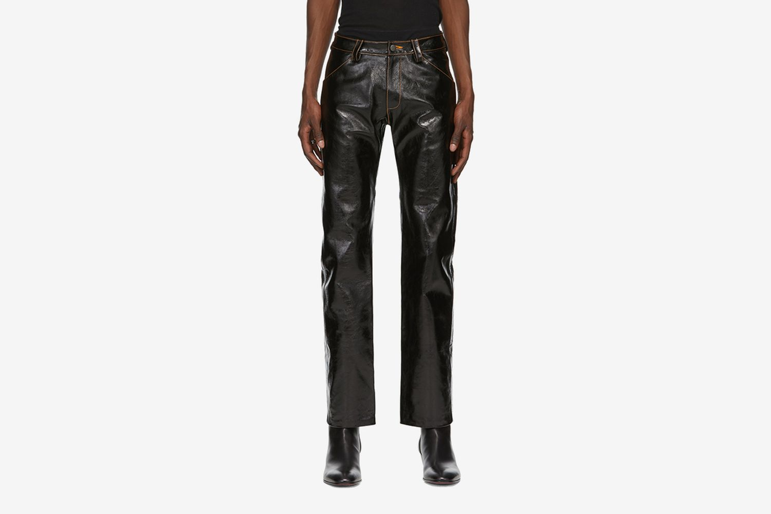 Patent Leather Suit Trousers