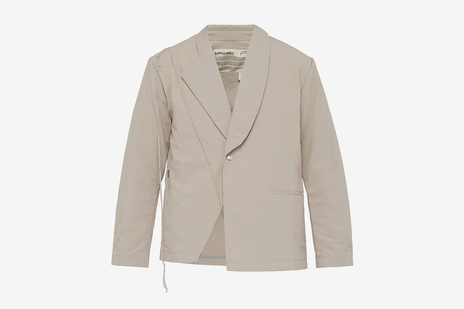 Asymmetric Cotton Ripstop Blazer