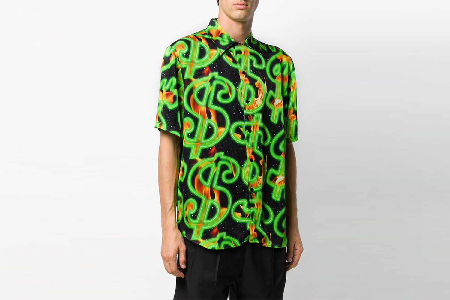 Dollar Print Short Sleeve Shirt