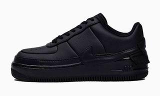 """Nike's Artsy Air Force 1 """"Jester"""" in """"Triple Black"""" Is Peak Stealth"""