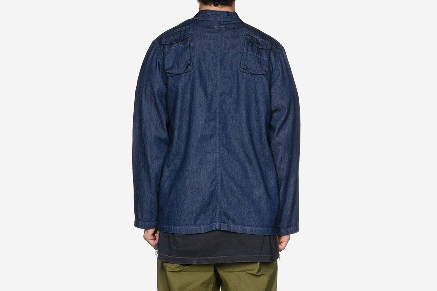 8oz Denim Fishing Kimono Shirt One Wash