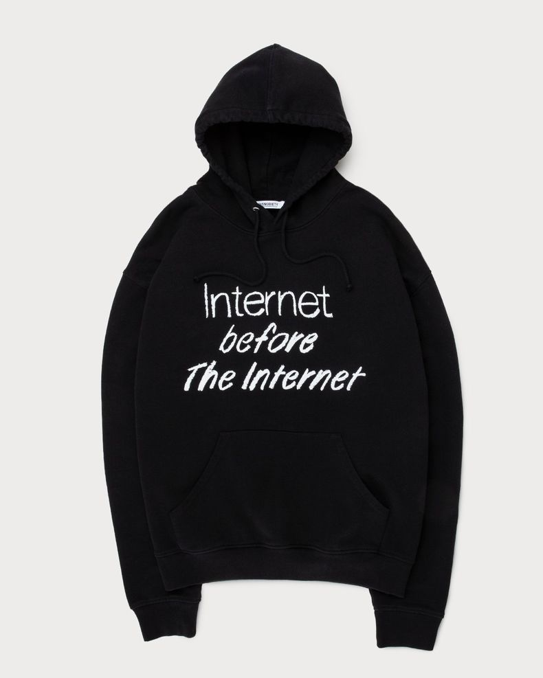 colette Mon Amour - The Internet Before The Internet Hoodie Black