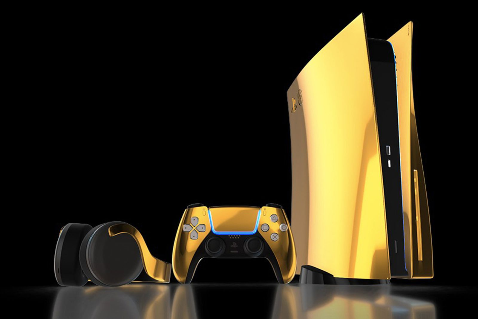 Truly Exquisite Gold PS5 console