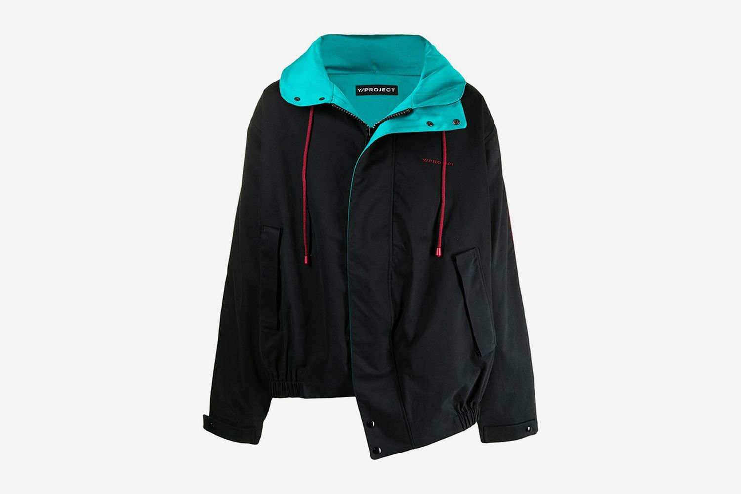 Twisted-Design Cotton Windbreaker