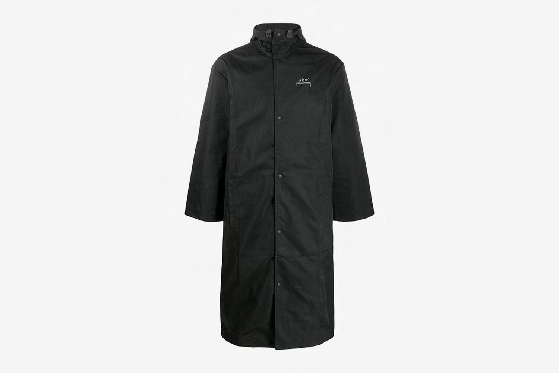 Logo Hooded Raincoat