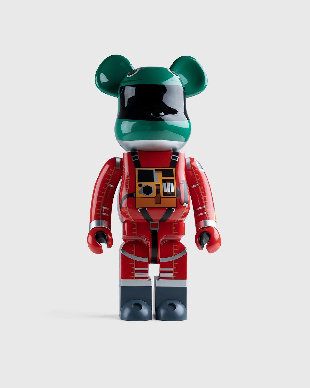 Medicom Be@rbrick – Space Suit Green Helmet & Orange Suit 1000% - Image 1