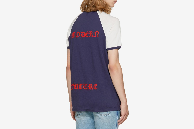 Navy Raglan 'Modern Future' Logo T-Shirt
