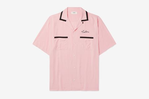 Camp-Collar Embroidered Shirt