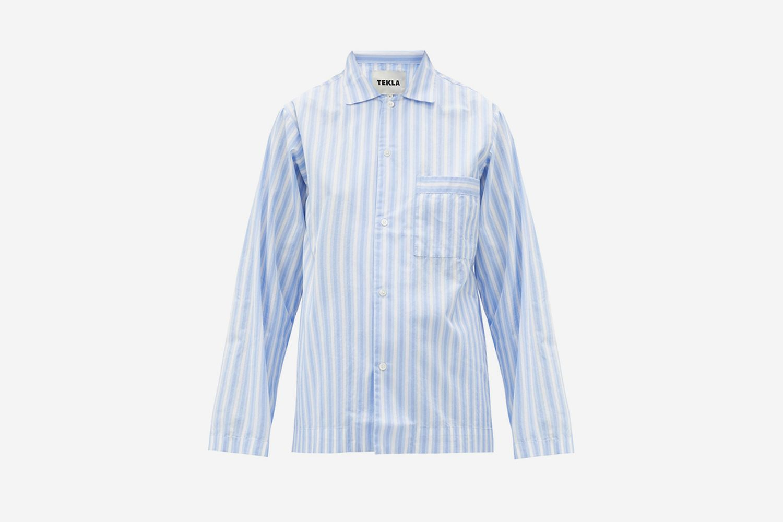 Striped Organic-Cotton Pyjama Shirt