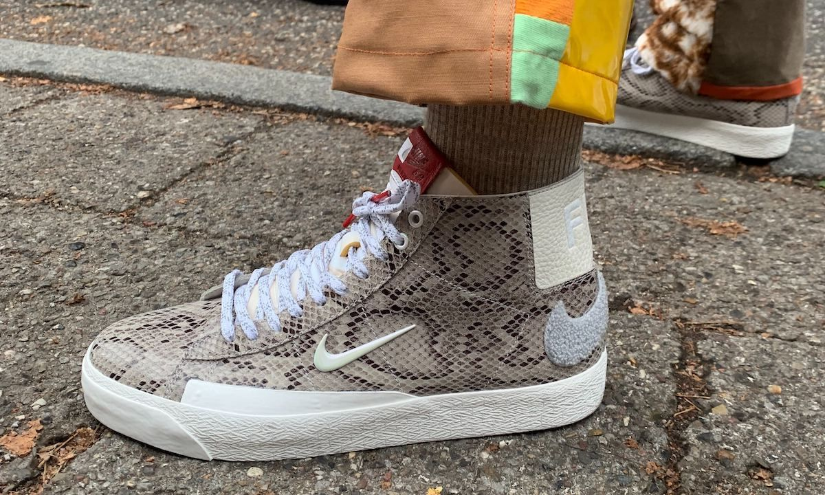 Soulland's Snakeskin & Mini-Swooshed Nike Blazer Is a Thing of True Beauty