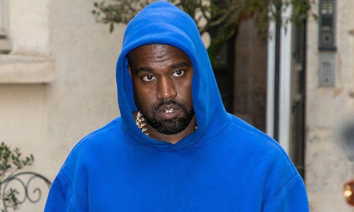 kanye west blue hoodie