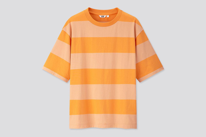 Oversized Striped Crew Neck Short-Sleeve T-Shirt