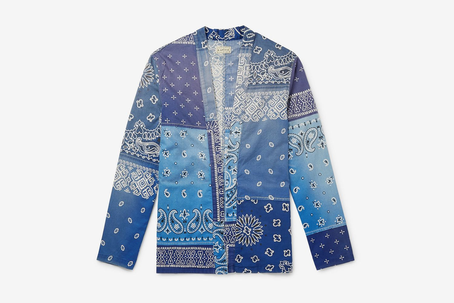 Patchwork Bandana-Print Cotton-Blend Shirt