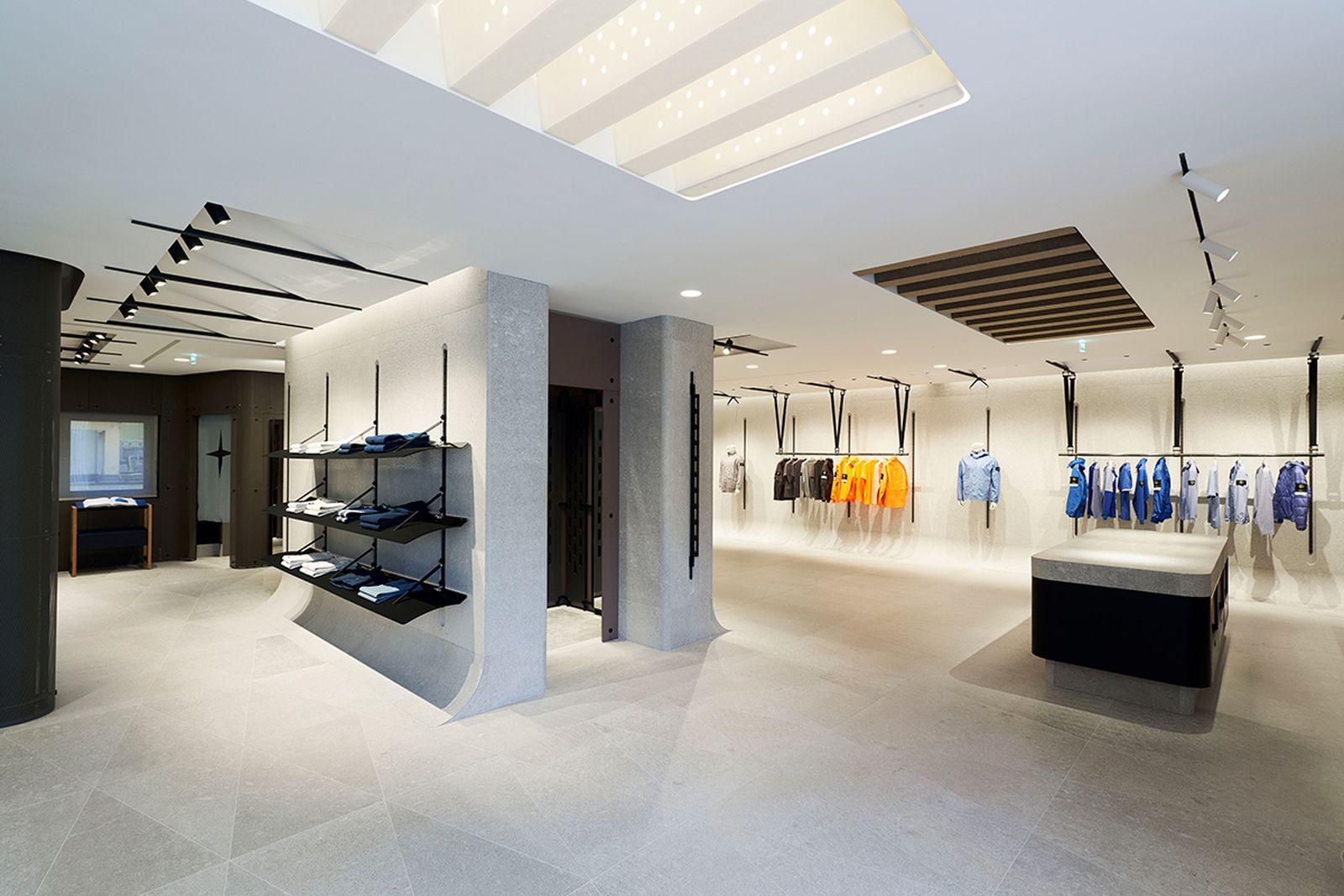stone island milan store