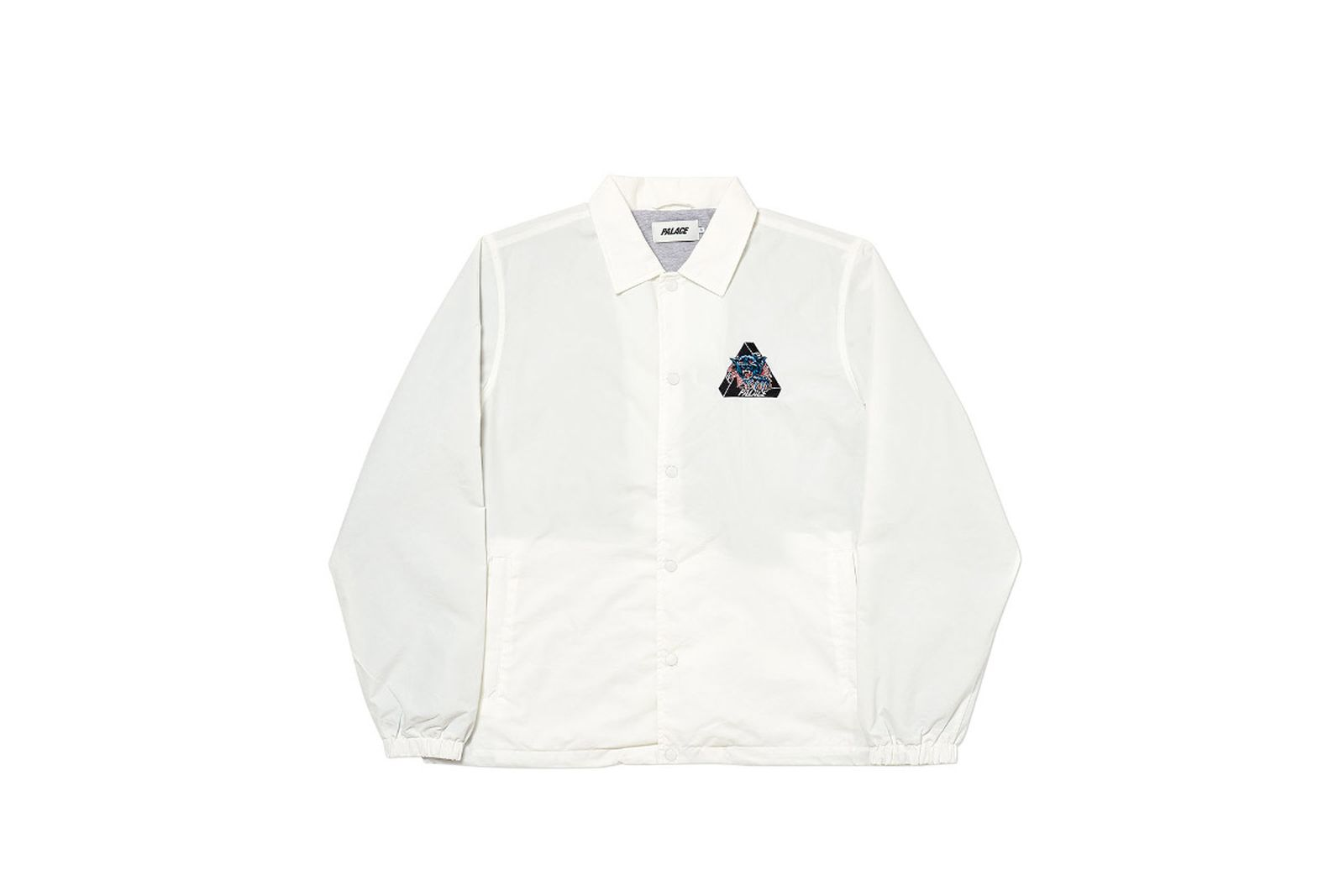 Palace 2019 Autumn Jacket Ripped Coach white front fw19