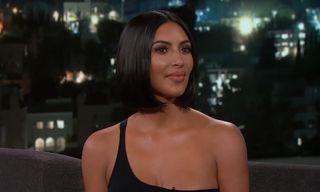 Kim Kardashian Talks Naked Phone Calls with Trump & Kanye's Politics on 'Kimmel'