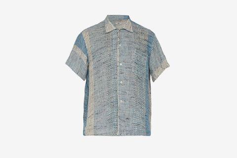 Crochet-knit Cotton Shirt