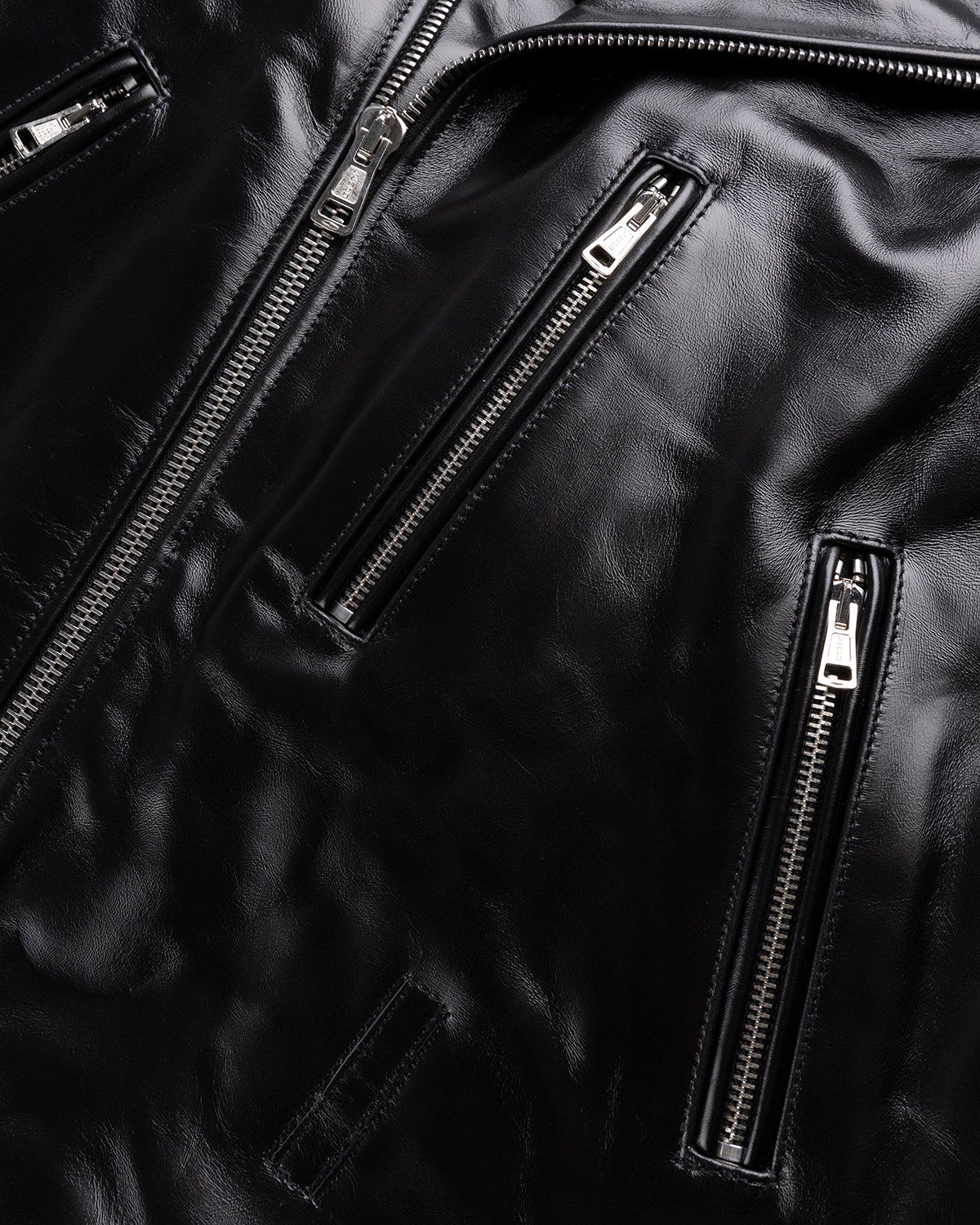 Our Legacy – Hellraiser Leather Jacket Aamon Black - Image 4