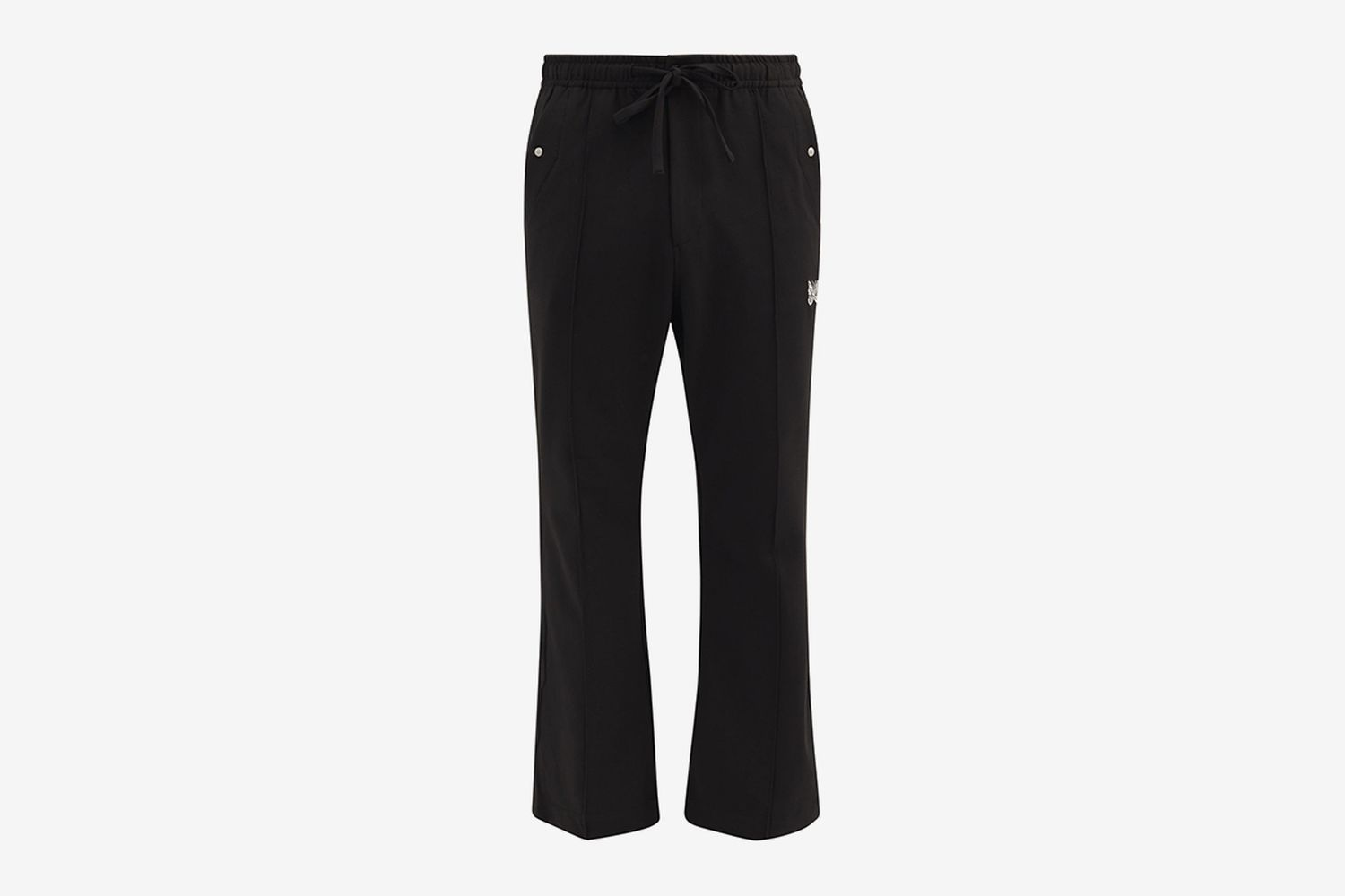 Butterfly-Embroidered Piped Track Pants