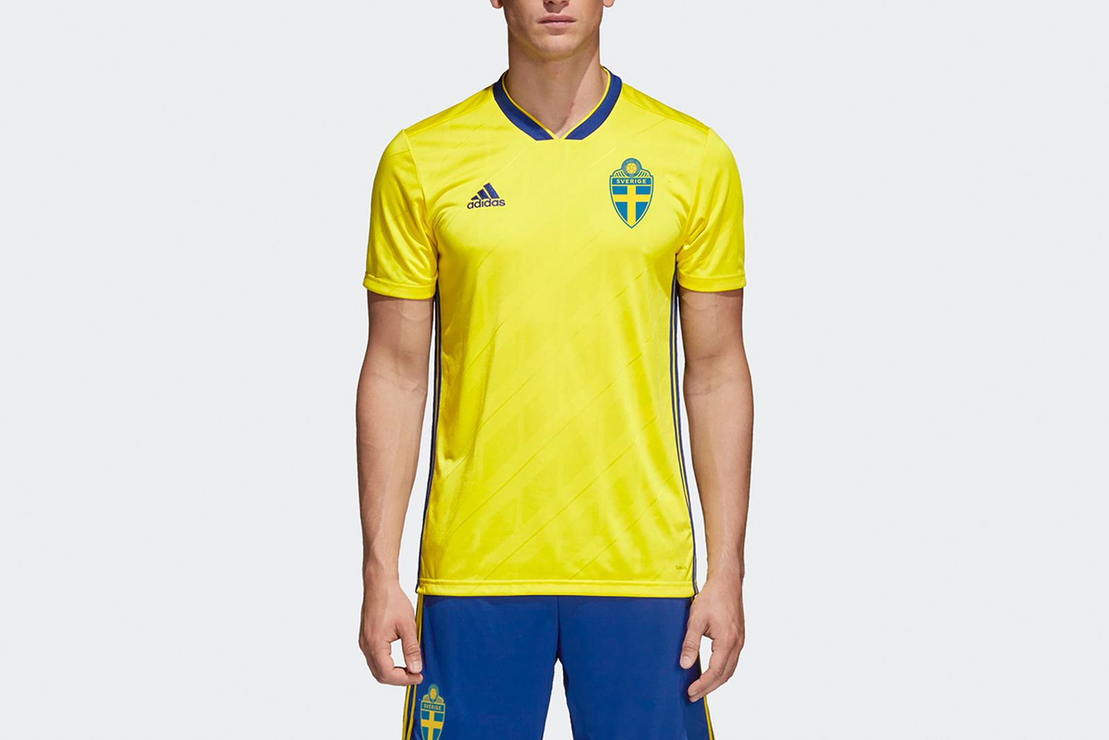 Sweden Home Jersey Yellow BR3838 21 model 2018 FIFA World Cup Adidas