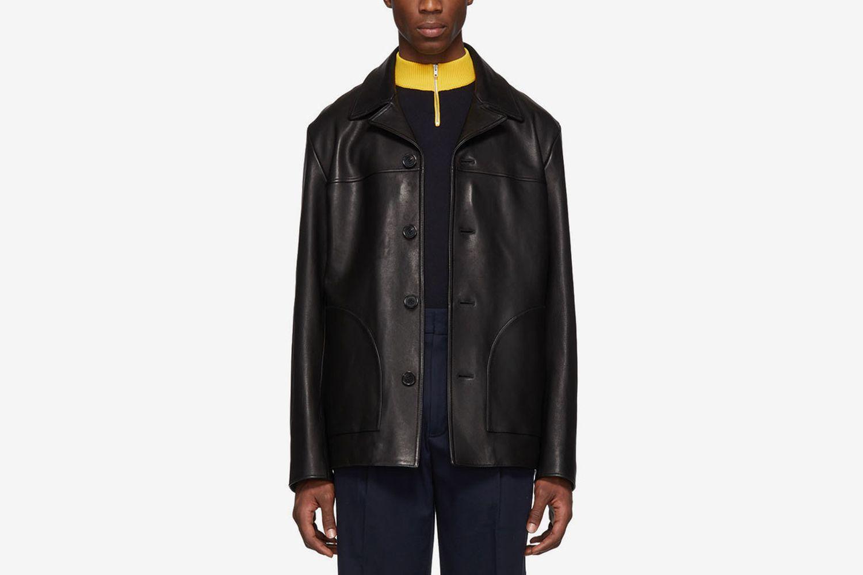 Black Leather Lance Jacket