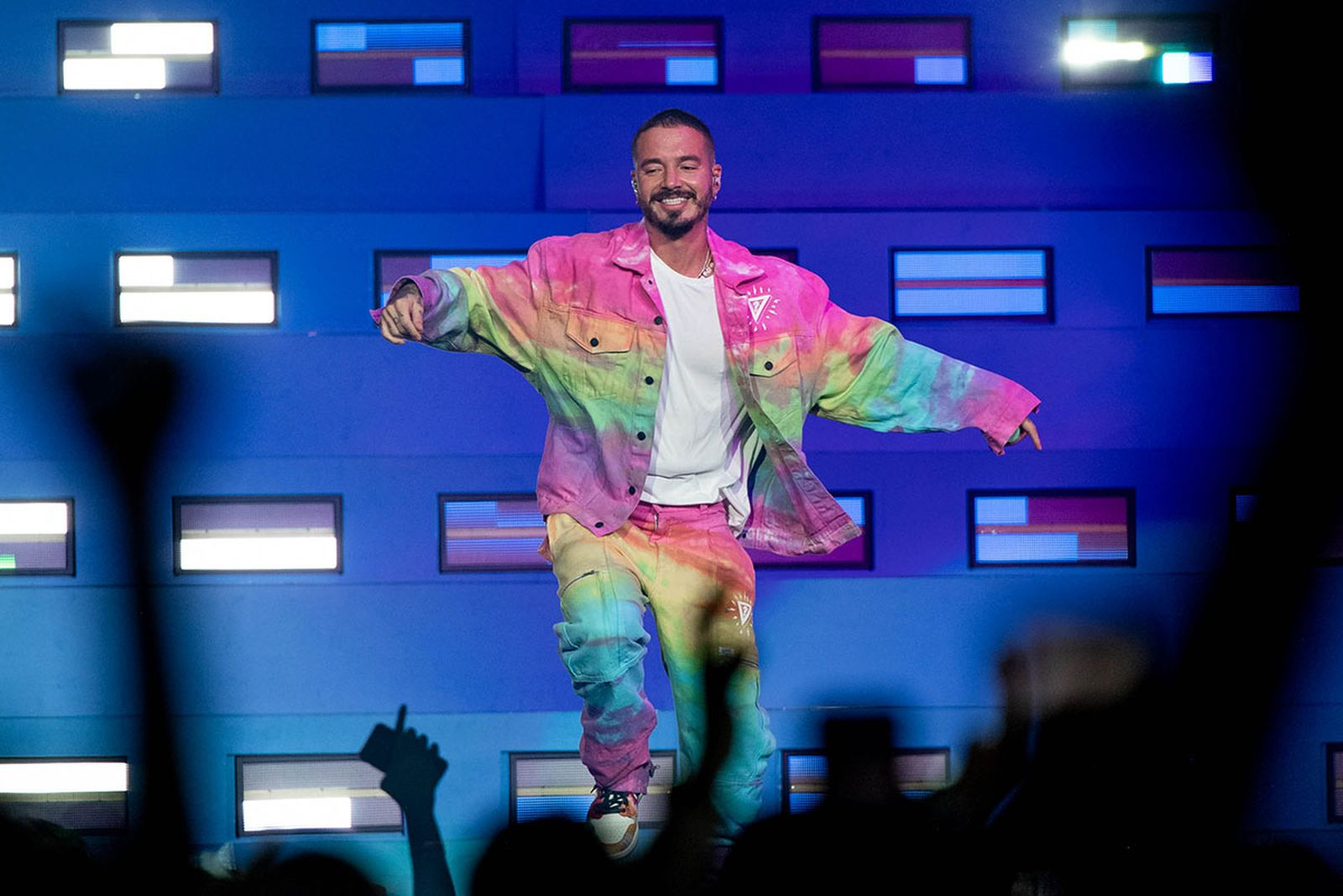 J Balvin performs onstage at Staples Center