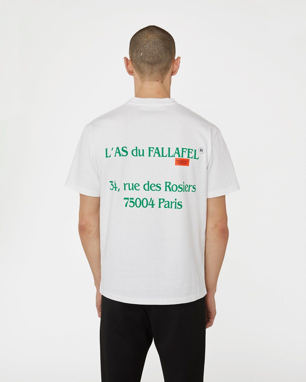 Highsnobiety x L'AS du FALLAFEL — rue des Rosiers T-Shirt White - Image 4