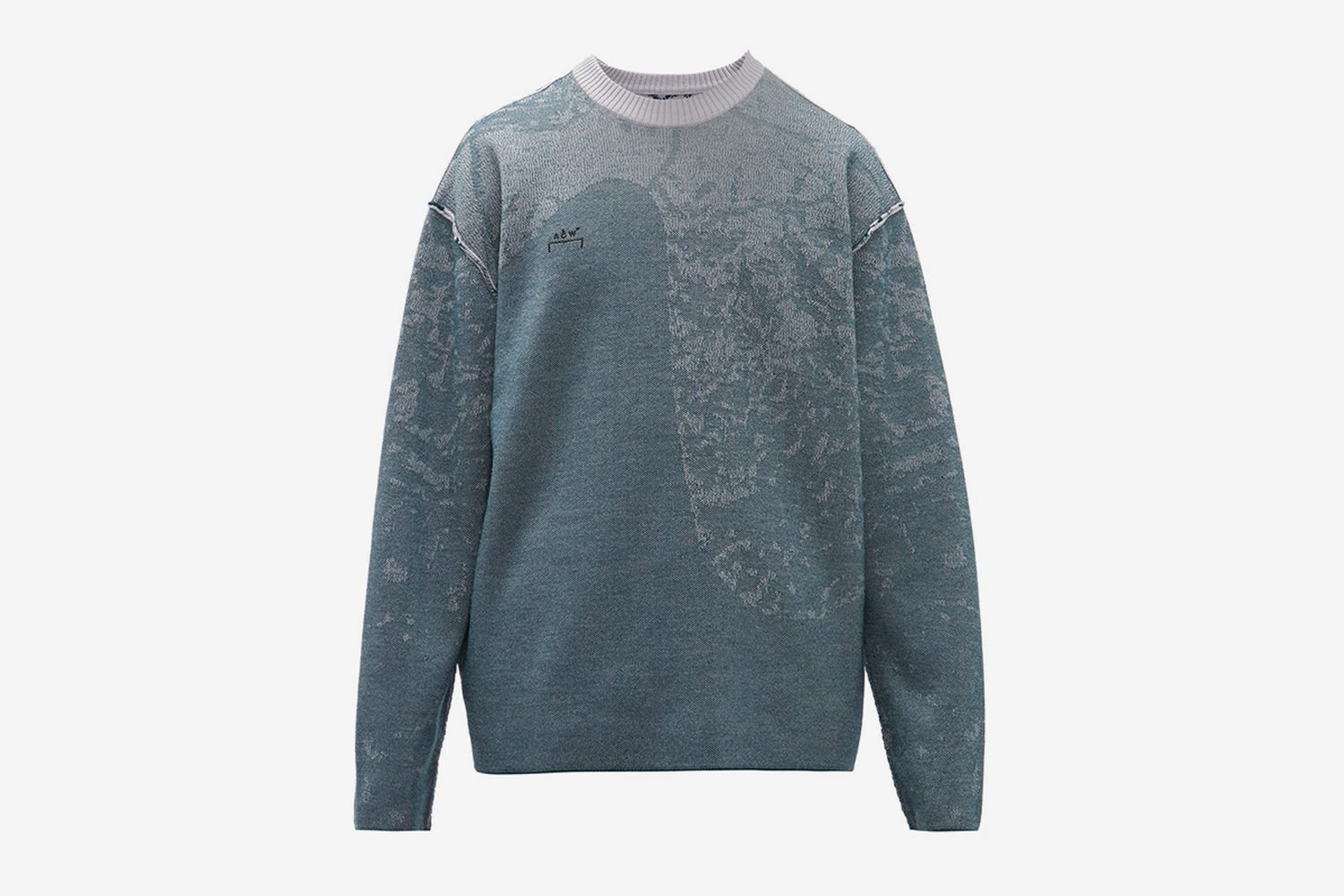 Shattered Glass-Jacquard Wool Sweater