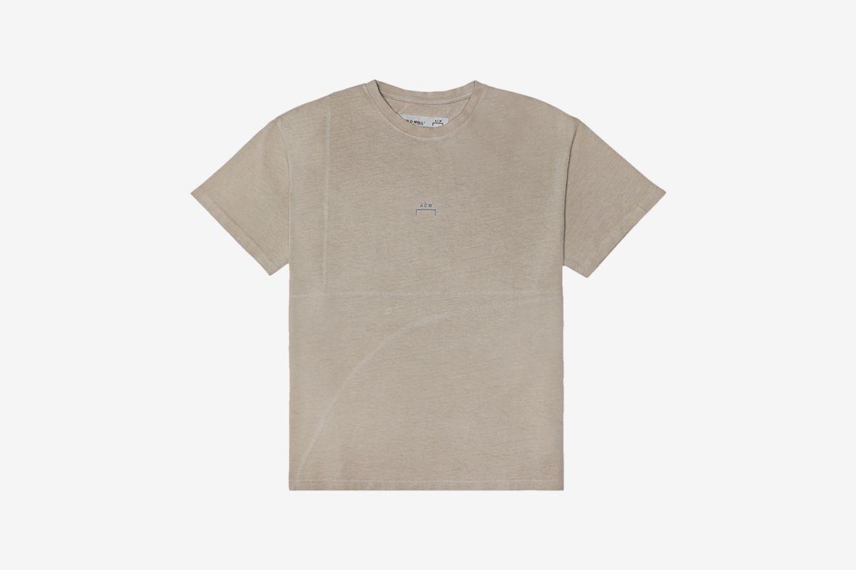 Mesh Logo Overlock Short Sleeve T-Shirt