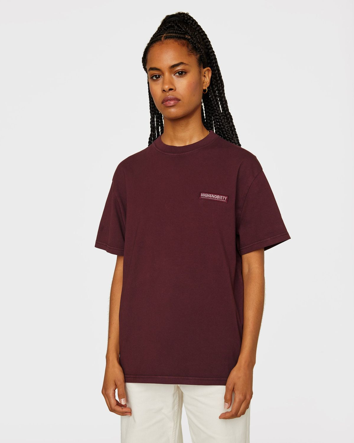 Highsnobiety Staples — T-Shirt Burgundy - Image 6