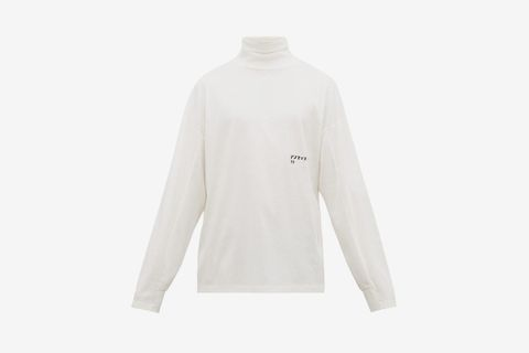 Logo Print Roll Neck