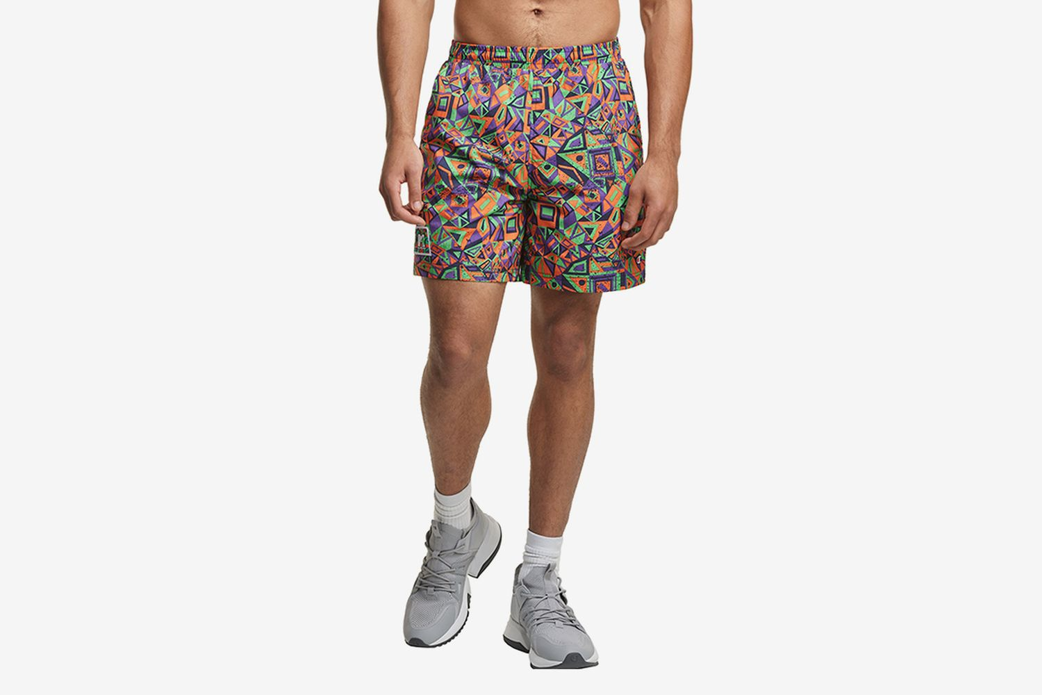 Limited Edition Crinkle Nylon Print Shorts